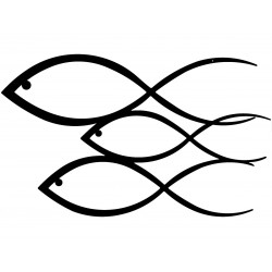 Balıklar Metal Tablo