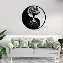 Yin Yang Hayat Ağacı Metal Tablo