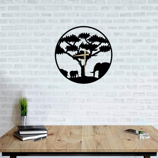 fill ve ağac metal tablo