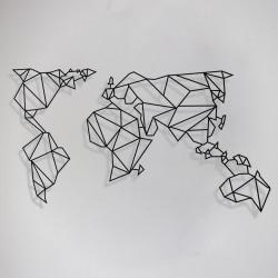 Dünya Haritası Metal Tablo